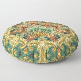 Flower Of life Mandala (Sunny Garden) Floor Pillow