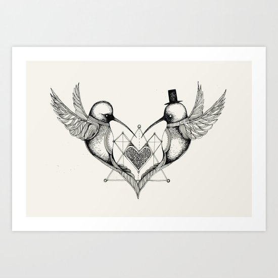 'Valentine's Day' Art Print