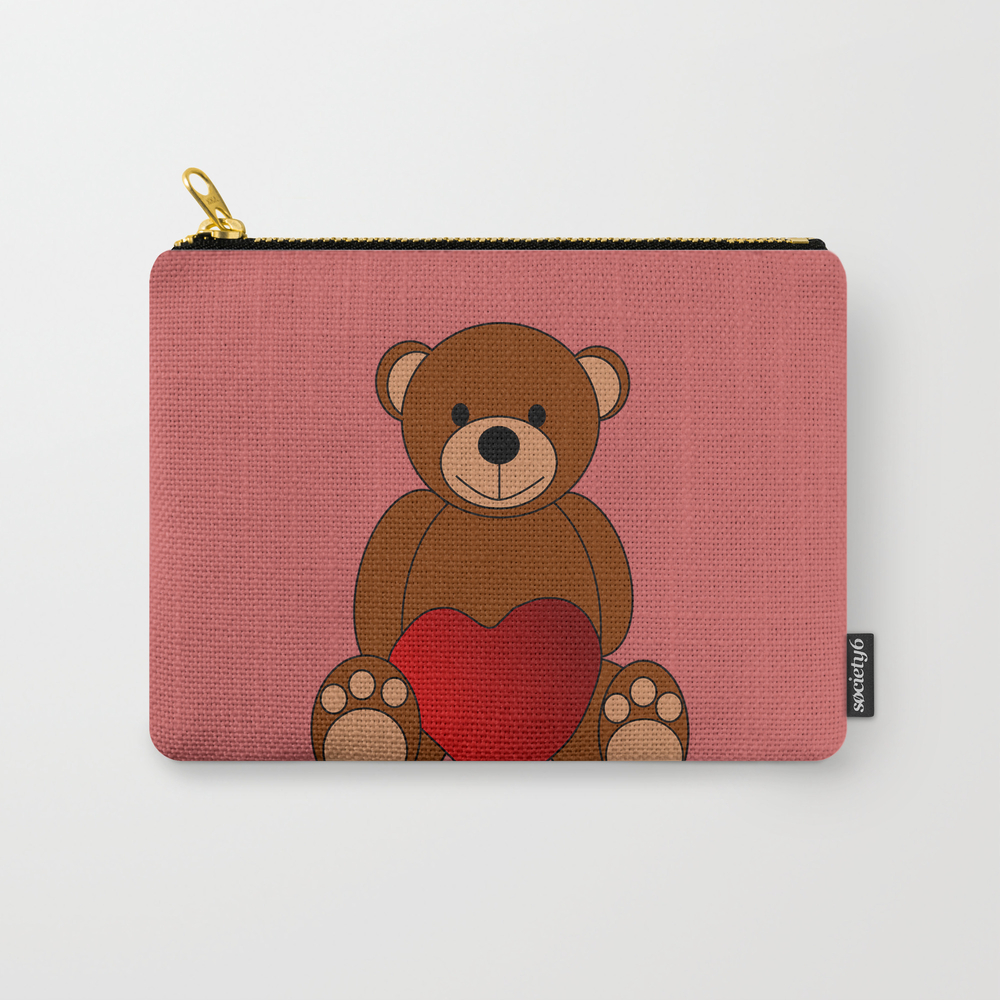 Teddy Love Carry-all Pouch by Kultjers CAP8612077