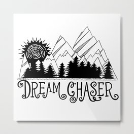 Dream Chaser, Mountain Adventure Metal Print