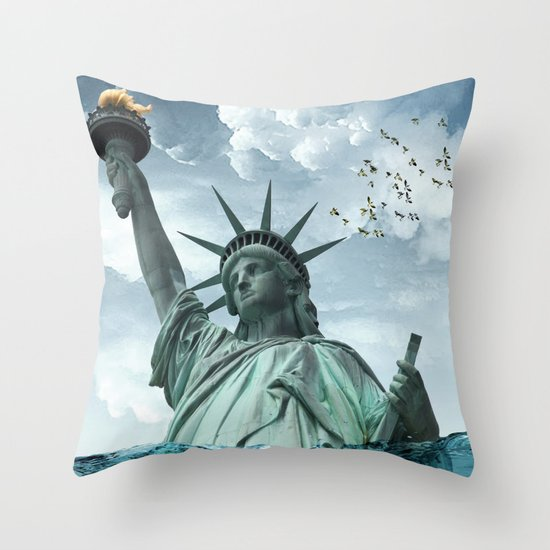 the water line Throw Pillow