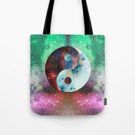 Ying-Yang Galaxy Tote Bag