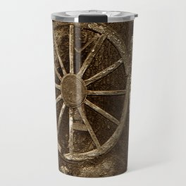 Historical Wagon Wheel Travel Mug