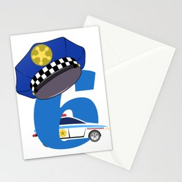 "Birthday Shirt For Those Whose Birthday Is Coming Near ""6 Police Car Officer"" T-shirt Design Stationery Cards"