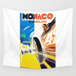 Grand Prix Monaco, 1931, vintage poster Wall Tapestry