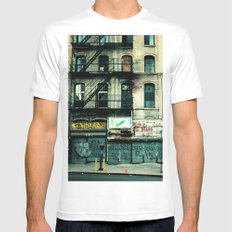 New York City LARGE Mens Fitted Tee White