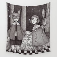 cooking Wall Tapestries featuring Hansel and Gretel by Judith Clay