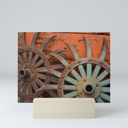 Rusted Metal Flowers Mini Art Print