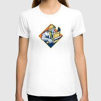 gladiator T-shirts featuring Gladiator With Sword And Shield by retrovectors