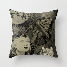 Fog Weaver Throw Pillow