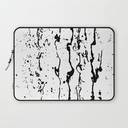 poured paint blots black and white Laptop Sleeve