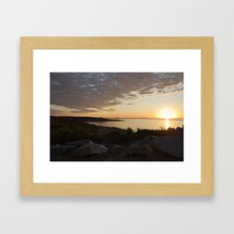 Halibut Point Sunset 2 Framed Art Print