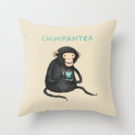 Chimpantea Throw Pillow
