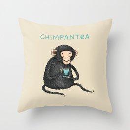 Chimpantea Throw Pillow