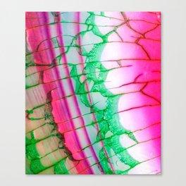 Psychedelic Tie Dye Quartz Canvas Print