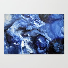 Swirling Blue Waters II - Painting Canvas Print