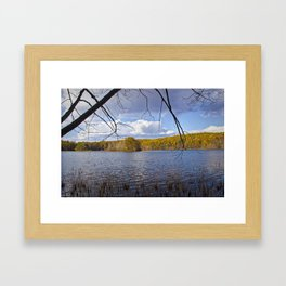 Hall Lake by Yankee Springs in Autumn Framed Art Print