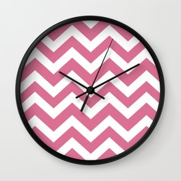 Pale red-violet - violet color - Zigzag Chevron Pattern Wall Clock