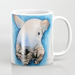 Dumbo Octopus Watercolour in blue and brown Coffee Mug