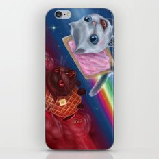 Pop-Tart Cat vs. Waffle Cat iPhone & iPod Skin