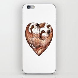 sloth love iPhone Skin