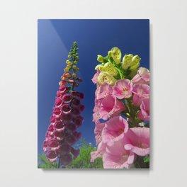 Foxglove Flowers Reaching for the sky Metal Print