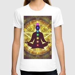 In Meditation With Chakras - Spiritual I T-shirt