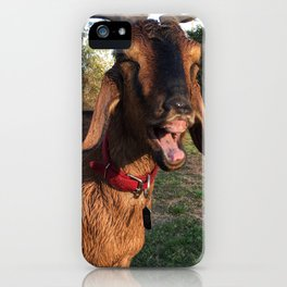 Happy Wet Goat iPhone Case
