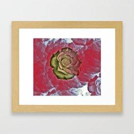 Rose and Rosey Framed Art Print