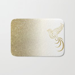 Golden Songbird Bath Mat
