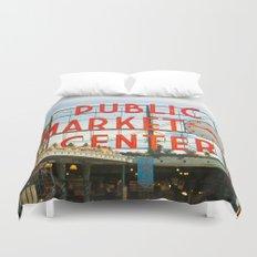 Seattle Pike Place Market Duvet Cover