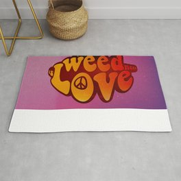 All Weed Need Is Love Rug