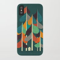 cabin iPhone & iPod Cases featuring Cabin in the woods by Picomodi