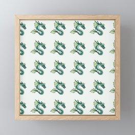 Sea Dragon Pattern 1 Framed Mini Art Print