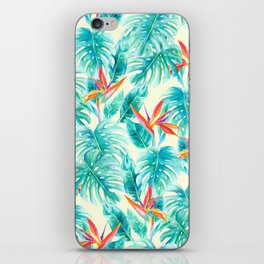 Tropical Paradise Pale Yellow iPhone Skin