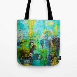 Abstract Blue in the Breeze Tote Bag