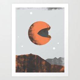 Orange Planet Art Print