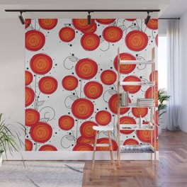 Layla Poppies Wall Mural