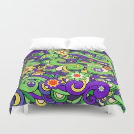 Colorful Hippie Swirl Pattern 3 Duvet Cover