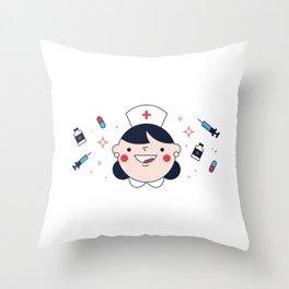 National Nurses Day Throw Pillow