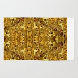 Fractal pattern in gold Rug
