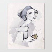 peach Canvas Prints featuring Peach by José Luis Guerrero