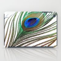 peacock feather iPad Cases featuring Peacock Feather by chauloom