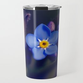 Forget-Me-Not Blue Flower Travel Mug