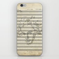 beethoven iPhone & iPod Skins featuring Beethoven by bananabread