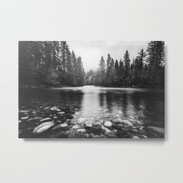 Pacific Northwest River III - Nature Photography Metal Print