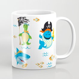 Set of cute Animals pirate design Coffee Mug