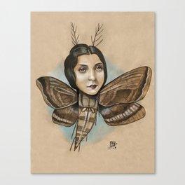 MOTH LADY Canvas Print