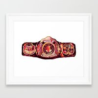 nba Framed Art Prints featuring NBA CHAMPIONSHIP BELT by mergedvisible