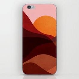 Abstraction_Mountains_SUNSET_Minimalism iPhone Skin
